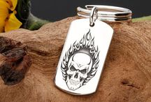 Custom Laser Engraved Silver Jewellery