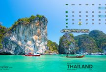 Calendar, 2016 for the Ultimate Traveller. / We have created this Getaway Calendar, 2016 for those avid travellers for whom weekend doesn't mean Pubs & Parks, but it means exploring new places, people and activities. Download it, share it and Yes....Use it to plan your next Getaway. Happy New Year!!