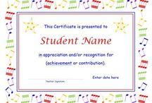 Concert certificates