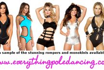 Pole Rompers and Monokinis / Selection of the pole rompers and monokinis available at www.everythingpoledancingcom/category/rompers