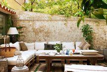 Jardin madera terraza