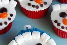 Snow man cuppies  / Decorated