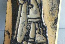 Sinterklaas stempels / Sinterklaasstempels: School beloningsstempels, kleurstempels, borduurstempels, hobbystemstempels, tekenstempel uit de vijftiger en zestiger jaren tot heden. Kleine collectie uit mijn verzameling en gepinde stempels.