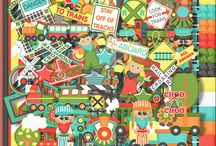 Train Tracks-Digtial Scrapbooking Kit / by Touched By A Butterfly