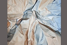 """My Paper Series / My paintings of """"Paper"""".  I like the crispness, the angles, and the organic curves of paper and tried to capture this on a two dimensional surface with paint."""