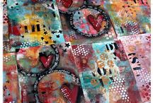 Miscellany / Art from art created using the Gelli Plate and lots of other things!