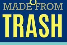 trash to treasure / repurposed curbside finds | trash to treasure | repurposed trash | upcycled trash | diy made from trash | projects made from trash