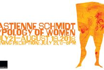 """Bastienne Schmidt: Typology of Women /  Presenting a series of hand-painted silhouettes of different """"types"""" of women (as depicted in different historical periods, through popular culture and literature) by German-born, mixed-media artist Bastienne Schmidt for her latest eponymous publication. July 21 – August 19, 2016."""