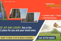3BHK Flat in Noida Extension / Paramount Emotions is based on a theme of modern lifestyle. The residences are facing green view with beautiful landscaped area. http://goo.gl/amR7QD
