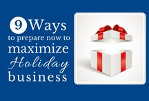 Small Business Holiday Prep / How to promote your small business during the holiday season. Learn more: http://on.nfib.com/1tMfhFQ #ShopSmall / by NFIB