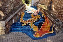 Tapolcai Halas Lépcső - Varjas Judit / Tapolca - street art - urban art- koi ponty- koi fish- Varjas Judit