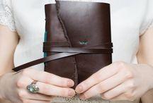 Leather handmade journals / Ručne viazané kožené zápisníky