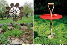 garden tools up cycle repurpose