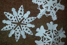 Cute snowflakes I made / by Mary Geraldine Kamal