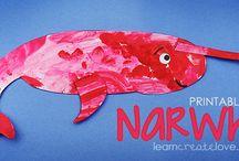 Sea Animals & Fish Crafts / LearnCreateLove's Fish & Sea Animal Crafts