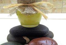 Pebbles sea stones polish finish natural beeswax