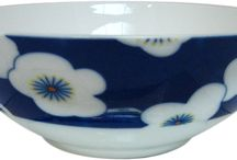Umeko Blue / Our Umeko Blue collection features blue porselain with white flowers.