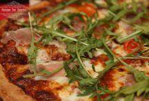 Pizza Mozzarella di Bufala / This collection of Pizza's includes exeptional ingredients including, mozzarella di bufala, prosciutto di parma, black truffle oil & black truffle paste, salmon, shrimp, and pancetta guanciale to name a few.