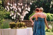 Escort card tree wedding seating plan / See http://www.toptableplanner.com/blog/make-your-own-escort-card-tree for ideas on making your own escort card tree.