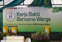 Hero Green Action / Hero Green Action yaitu Acara Kerja Bakti bersama yang diselenggarakan oleh PT Hero Supermarket Tbk (Head Office) bersama Warga Sekitar yg serentak diikuti oleh 95 gerai Giant & Hero di seluruh Indonesia di wilayah Jurang Mangu Barat, Tangerang Selatan