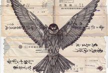 hAnd dRAwn / Illustration and hand drawn mixed media, art.