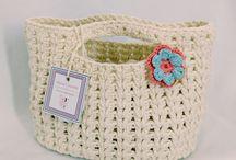 cestas de crochê