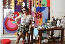 Beatriz Milhazes / Una de las mejores artistas visuales del Brasil,One of the best visual artist from Brasil.