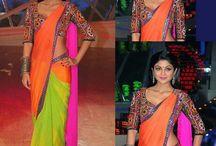 celebrities on saree / Saree#designer# blouse#silk#pattu#