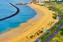 Playa de Las Teresitas at San Andres, Tenerite. #HeathrowGatwickCars.com