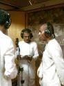 Srila Bhakti Vikasa Swami Recording Bhajans in Studio
