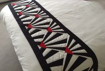 Art Deco bed runner