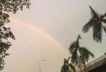 Catching a double rainbow ! Hope my wish comes true.