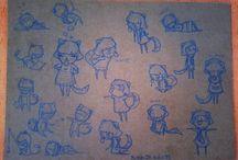 Noches Dibujadas / Personajes y cositas que dibujo por las noches...