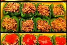Stuffed peppers .