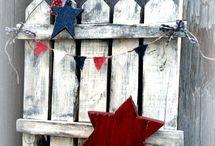 Patriotic Crafts / Patriotic crafts, July 4th, Memorial Day, New Years, Flag Day, Labor Day, holiday decor, diy Patriotic home decor, handmade decor
