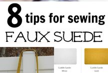 Sewing faux leather, suede, vinyl