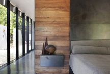 "Contemporary Exterior and Interior / Concept : ""steel, glass, wood, concrete"""