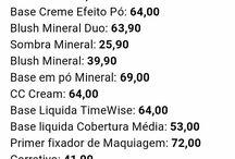 lista de preços Mk