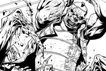 DC Comics Inks / Comic Book inking by Walden