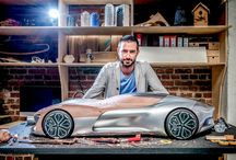 Man behind the car design concept...clay models