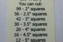 squares in a fat quator