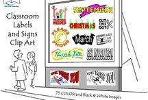 Classroom Labels and Signs / Classroom Labels and Signs. Are you getting your classroom or home school ready for back to school? Transform your classroom or home with these beautiful collection of Classroom Labels and Signs Clip Art.