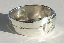 Silver rings Handmade / Hand made in Canada - Unique Silver Native and Nature themed rings