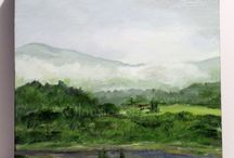 Landscape Nature Art / Landscapes Oil Paintings on Canvas and Watercolor of scenic countrysides. / by Laurie Rohner Studio