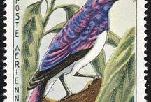 timbres poste oiseaux