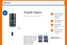 Toppik 12gms / If you're a man or woman with thinning hair, Toppik will transform your appearance in 30 seconds, restore your confidence and help you look years younger