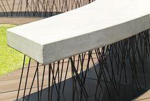 betonowe meble
