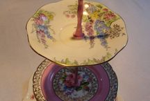Collectable Cake Stands / Upcycled Vintage china cake stands available to buy at: www.woobwoo.com
