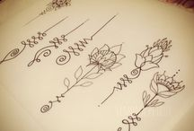 Unalome & rose Tattoo