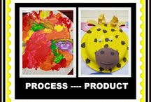 Process vs Product/El proceso vs. Producto / Ideas for encouraging children to engage in process art, enjoying the methods and materials used to create, over product art, making the same thing as everyone else. / by 4-C Helping Communities Help Children